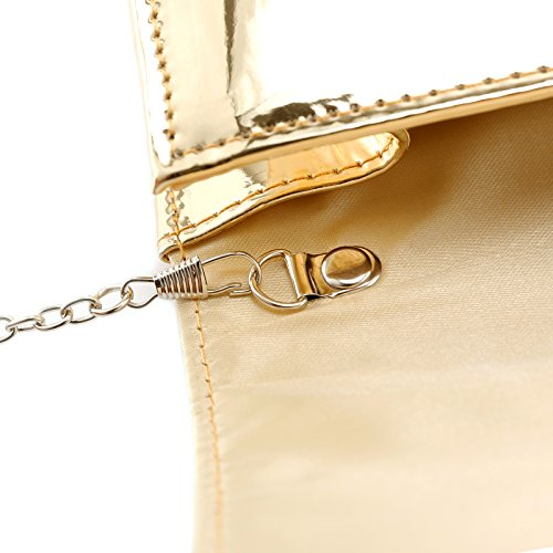 Fraulein38 Designer Mirror Metallic Women Clutch Patent Evening Bag by Fraulein38 (Image #4)