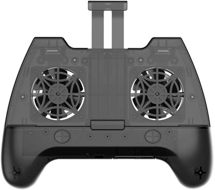 Controlador de gamepad Bluetooth con ventilador de refrigeración dual Radiador de teléfono móvil Joystick Disparador Game Shooter PUBG para Iphone