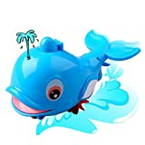 Baby Bath Toy Water Spray Dolphins Floating Amphibious Kids Tub Pool Shower Gift
