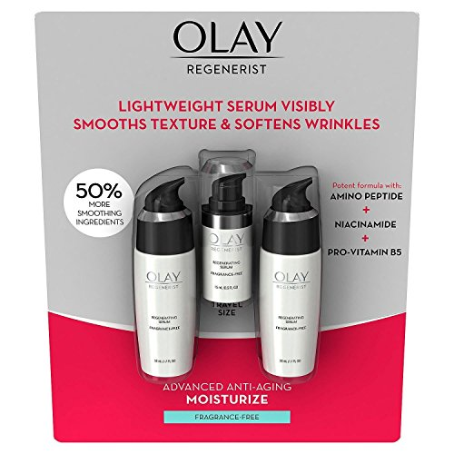 Olay Regenerist Regenerating Serum, Fragrance-Free (Total 3.9 Oz)