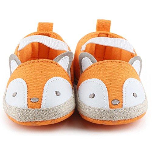 Tefamore zapatos primeros pasos bebes de antideslizante de sole suave de moda invierno de calentar de Cartoon Nudo de arco Amarillo