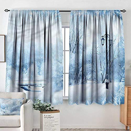 Room Winter Roll Wonderland (familytaste Winter,Rod Pocket Indo Curtain Wonderland Xmas Holiday 52
