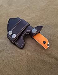 This listing is for a handmade leather sheath for the Benchmade 15100-1 Nestucca Cleaver. Each sheath is made out of 8-10 ounce latigo cowhide and features a double snap-closure loop for attaching the sheath horizontally to your belt, as well...