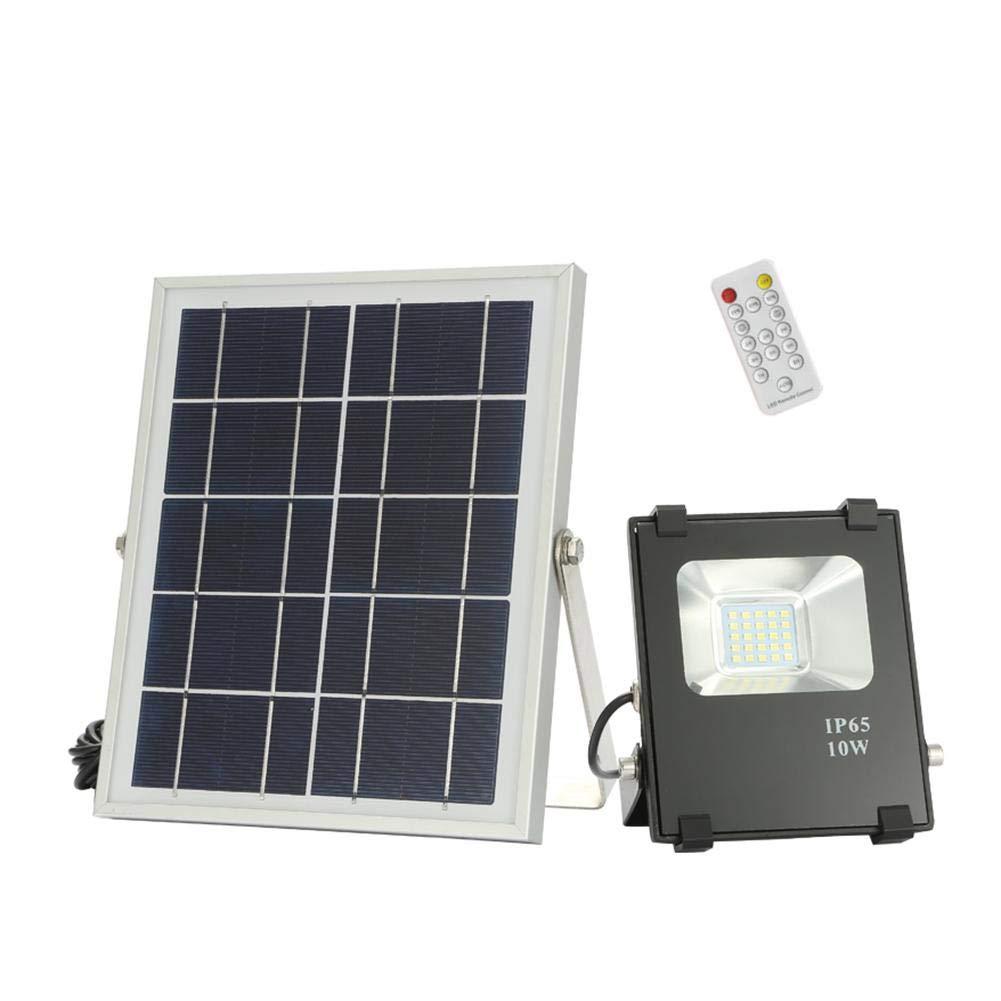 Starnearby 10 W solare, 25LED impermeabile telecomando luci di sicurezza a energia solare con sensore luce esterna per recinzione da giardino cortile Walkway Driveway