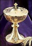 Big 9 1/2 Inch Church Chapel Gold Gilded Priest Celtic Cross Chalice Host Ciborium Ciboria