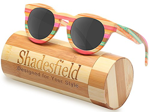 Bamboo Wooden Polarized Sunglasses Wayfarer Style-100%UV Protection