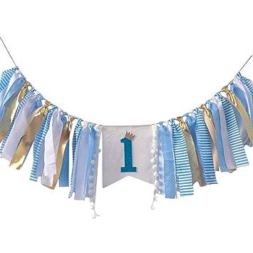 Amazon.com: 1er cumpleaños fiesta suministros decoraciones ...