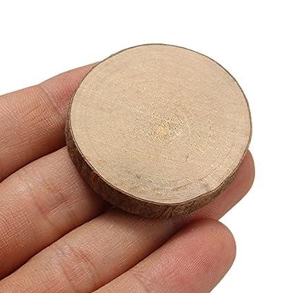 Amazon Com 10pcs Natural Round Wood Disc Slices Circle Shape