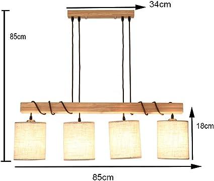 HJXJXJX Lámparas de Techo Colgantes Hechas a Mano de Madera Nordic Creativity Restaurant Chandelier Lámpara de péndulo LED E27 Warm Lght [Clase de eficiencia energética A ++], B: Amazon.es: Hogar