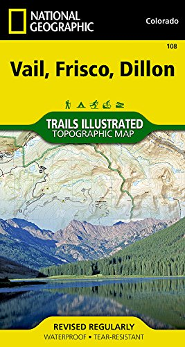 Vail, Frisco, Dillon (National Geographic Trails Illustrated - Frisco Co Shopping