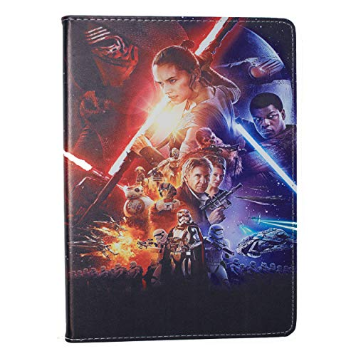 (Apple iPad 2/3/4 Folio Star Wars Case/Protective PU Leather Smart Flip Cover/iCHOOSE / Episode VII Poster)