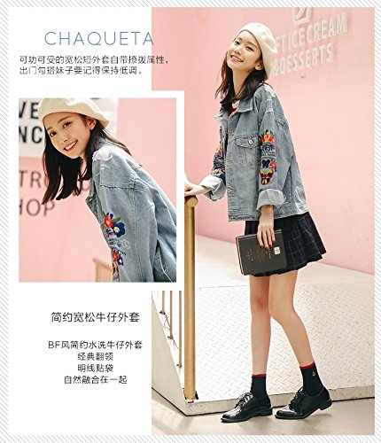 Amazon.com: Korean students loose denim jacket thin female ...