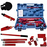 Comie 10 Ton Porta Power Hydraulic Jack Air Pump Lift Ram Body Frame Repair Kit Auto Shop Tool Heavy Set