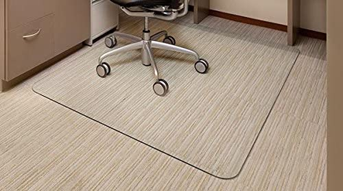 Premium Glass Office Chair Mat – Vitrazza 36 x 48 Super-Strong Hardwood and Carpet Protectors with Scratch-Resistant, Dent-Proof Surface Chiaro – Standard Clear