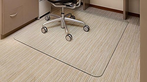 Vitrazza Glass Office Chair Mat 36' x 48' (Chiaro - Standard Clear) - As Heard on Sirius XM Radio - Premium Super-Strong Glass Chair Mat with Scratch Resistant Smooth Dent-Proof Surface