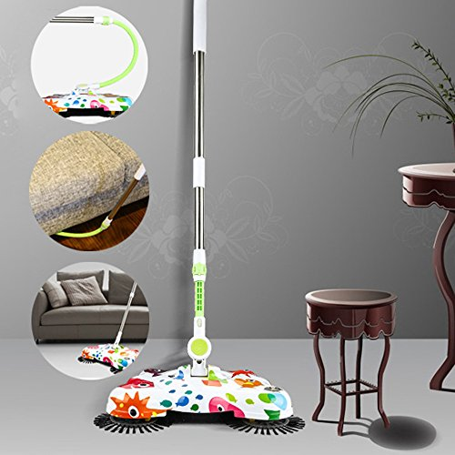 Metal Glo Magic Cloth (DEESEE(TM) New Arrival 360 Rotary Home Use Magic Manual Telescopic Floor Dust Sweeper)