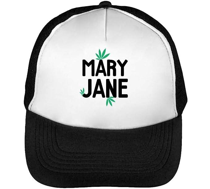 fff0423ad75 Mary Jane Marijuana Cannabis Weed Ganja Leaf 420 Gorras Hombre Snapback  Beisbol Negro Blanco  Amazon.es  Ropa y accesorios