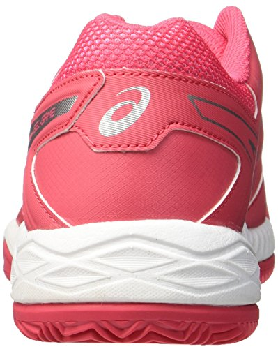 Chaussures Clay Femme Game Tennis Asics White Argent Blanc 6 Rouge Gel de Red Rouge Silver Rouge Vif wqf0xI4