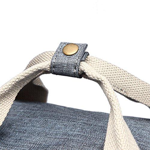 Bag Fashion Dots Laptop Matte 1807 School Kono Bag Print Oilcloth Handbag Large Polka Grey Backpack Travel Unisex Rucksack F1qv4xf