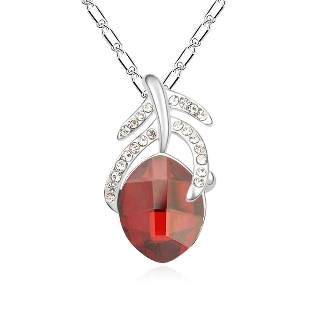 Adisaer Gold Plated Pendant Necklaces for Women Cubic Zirconia Bone Teardrop