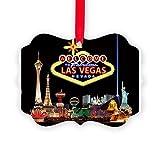 CafePress - 016Mp Vegas Nite Lites - Christmas Ornament, Decorative Tree Ornament