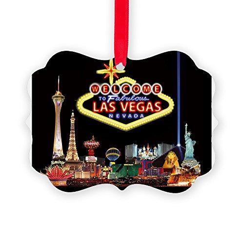 CafePress - 016Mp Vegas Nite Lites - Christmas Ornament, Decorative Tree Ornament by CafePress