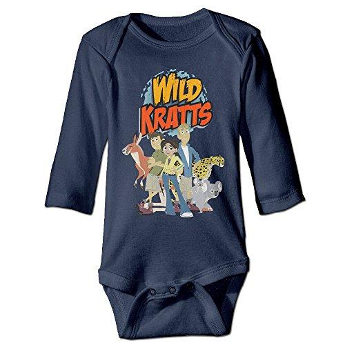 [NINJOE Newborn Wild Kratts Long Sleeve Bodysuit Baby Onesie Navy 12 Months] (Infant Sylvester Costumes)