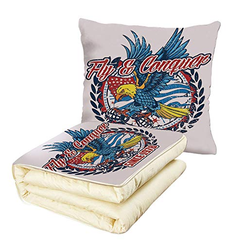 iPrint Quilt Dual-Use Pillow Eagle Fly and Conquer for sale  Delivered anywhere in USA