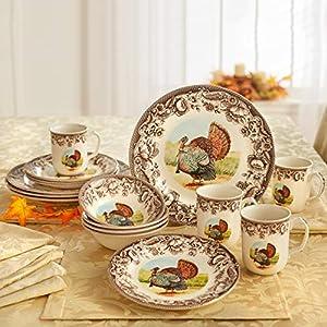 Brylanehome 16-Pc. Turkey Dinnerware Set