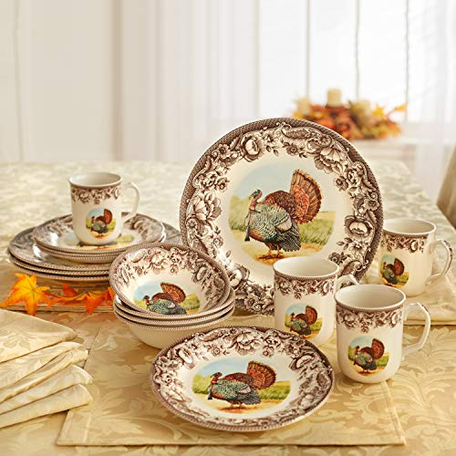 Brylanehome 16-Pc. Turkey Dinnerware Set, Multi