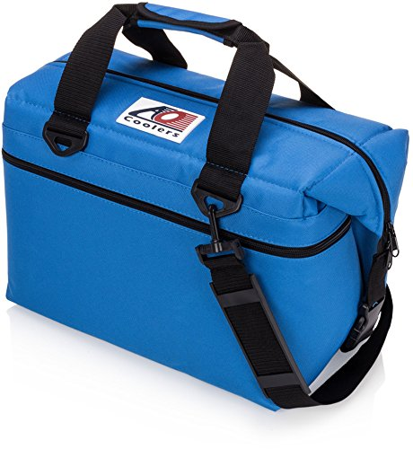 ao coolers canvas soft cooler with highdensity insulation royal blue 24can - Soft Sided Coolers