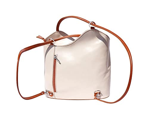 83c0082e83 Convertible backpack and shoulder bag 207 (Beige-leather)  Amazon.co ...