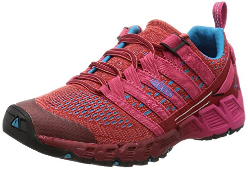 KEEN Womens Versago Hiking Shoe Red Dahlia/Deep Coral JRLgMun