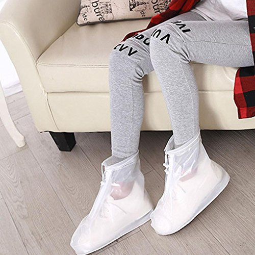 Slip Hunpta Rain White Waterproof Unisex Resistant Boots Shoes Reusable qRAvF