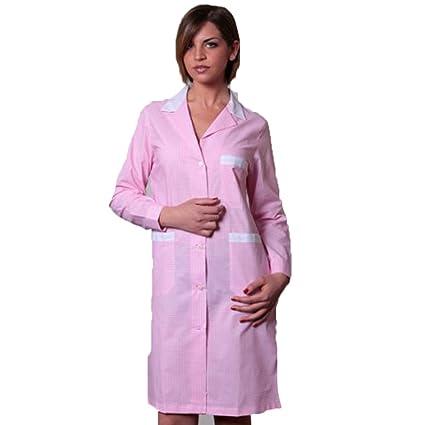 Bata delantal, para mujer, ideal para agencias de limpieza, albergos, guarderí