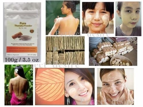 TANACA 100g Pure by Detashop Tanaka Thanaka Powder Anti Acne Aging Whitening Face Skin Hair Removal