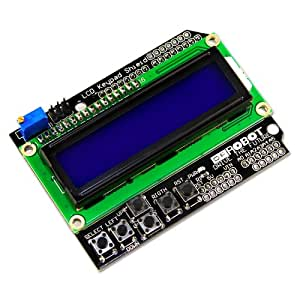 ZITRADES New 1602 LCD Keypad Shield Module Display for Arduino Duemilanove BY ZITRADES