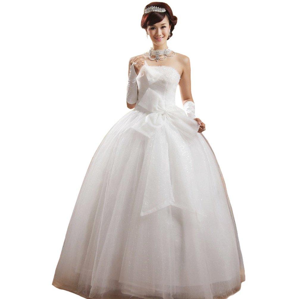 Jienixiya Strapless Ball Gown Wedding Dress Size 14 Us At Amazon Women's Clothing Store: Size 14 Wedding Dresses At Reisefeber.org
