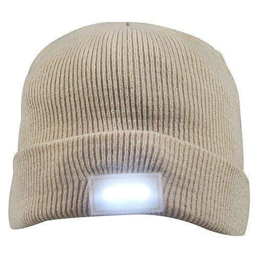 0d1cf7834 5 LED Knit Flash Light Beanie Hat Cap for Night Fishing Camping Handyman  Working