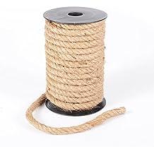 Advantez 32 Feet Natural Strong Jute Burlap Twine String Rope Twisted Hemp Cord 10mm Thickness