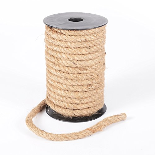 Advantez 32 Feet Natural Strong Jute Burlap Twine String Rope Twisted Hemp Cord 10mm Thickness (Burlap Twisted String)