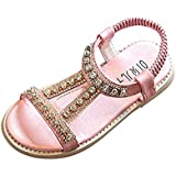 FEITONG Summer Kids Baby Girls Crystal Beach Sandals...