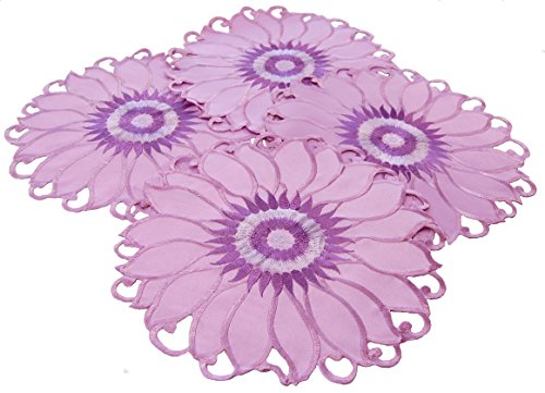 EcoSol Designs Sunflower Table Topper Centerpiece Placemats (11