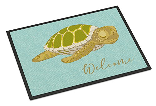 (Caroline's Treasures Sea Turtle Welcome Doormat, 18