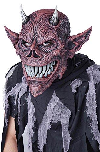 Ani Motion Masks (California Costumes Men's Devil's Feast Ani-Motion Mask, Red/Black, One Size)