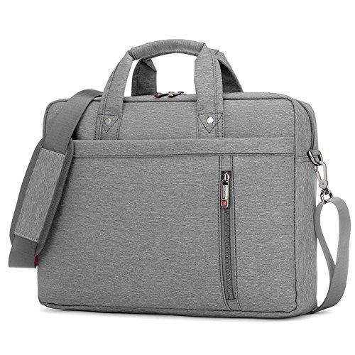 Lemberg) wasserabweisend 43,2cm Business Notebook shoudlder Tasche Messenger Umhängetasche Aktentasche rot rot grau