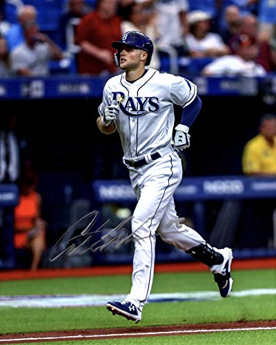 (AUSTIN MEADOWS AUTOGRAPHED Hand SIGNED 8x10 Tampa Bay RAYS PHOTO w/COA)