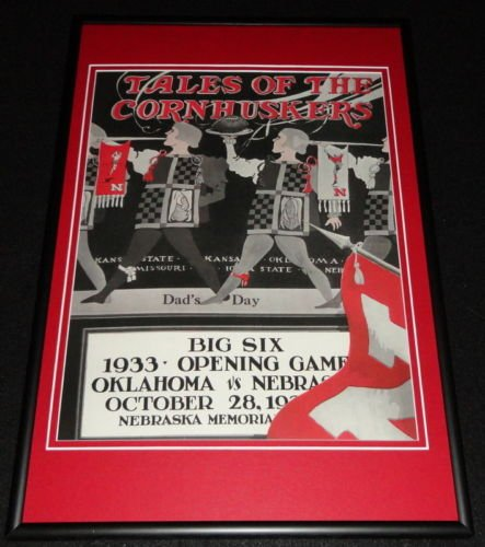 - 1933 Nebraska vs Oklahoma Football Framed 10x14 Poster Official Repro