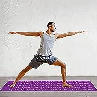 IhDFR Esterilla de Yoga con posturas de ilustración Adecuada ...