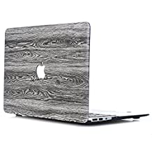 Aomo wood texture Laptop Hard Shell Plastic Shell Case Cove Adapted For Shell Case Cover for MacBook Pro Retina 15 Inch (Model: A1398) PU Leather Wooden Protective Hard Case